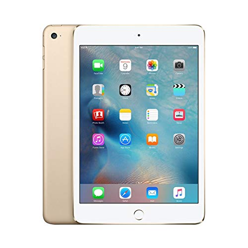 Apple iPad Mini 4 MK6L2LL/A 7.9-Inch, 16GB, Wi-Fi, iOS 9, Gold (Renewed)
