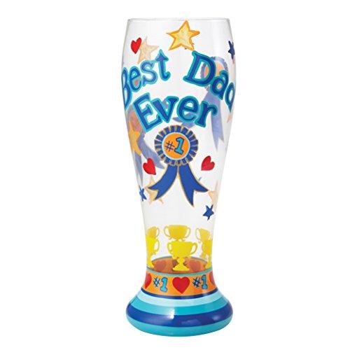 (Lolita from Enesco Best Dad Ever Pilsner Glass, Multicolor)