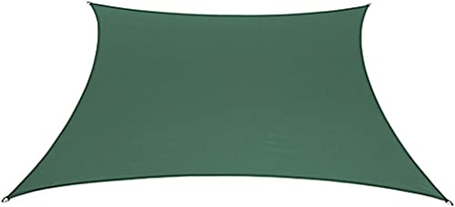 "BELLRINO DECOR "" Thick and Strong Sun Shade Sail Square 12 X 12 FEET S-Green 12 X 12"