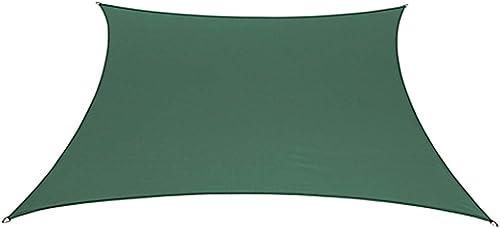 "BELLRINO DECOR "" Thick and Strong Sun Shade Sail Square 12 X 12 FEET S-Green 12 X 12"