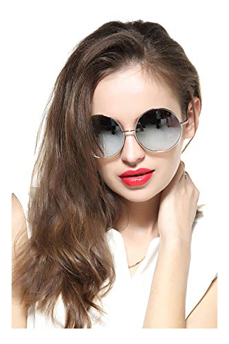 GEELOOK Oversized Round Circle Mirrored Hippie Hipster Sunglasses