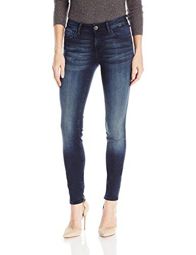 In Jeans Mavi Worn (Mavi Jeans Women's Adriana Mid Rise Super Skinny, Dark Overnight Gold, 28/32)
