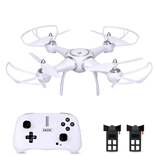 RC Drone Quadcopter, BOJIANG Remote Control Toys Drones Helicopter with Altitude Hold Mode One Key Take Off/Landing 3D Flips Headless Mode for Adults Boys Girls-White ()