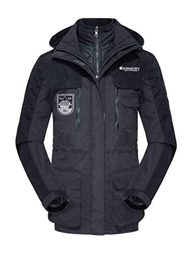 Piece Outdoor Three Overcoat Coat Jackets one Wear Resistant Black Winter in Two Couple Long Mountaineering JJZXX Polyester in Wwaterproof Windbreaker Men's Suit Autumn YIqwHSxvR