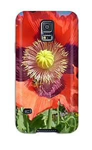 New Poppy Flower Tpu Case Cover, Anti-scratch PnDeHXa1299wpRuV Phone Case For Galaxy S5