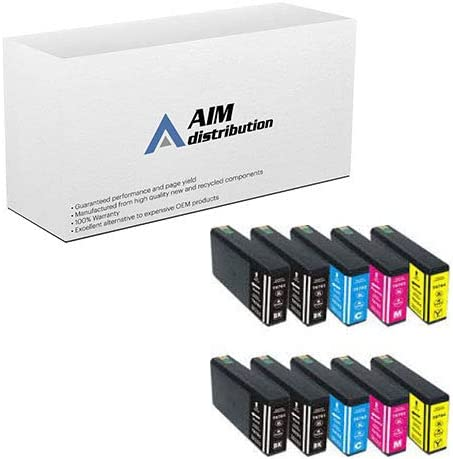 4-BK//2-C//M//Y 676XL Inkjet Combo Pack AIM Remanufactured Replacement for NO T676XLS4BK2C2M2Y-US