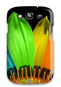 High Quality Shock Absorbing Case For Galaxy S3-flower Color Petals