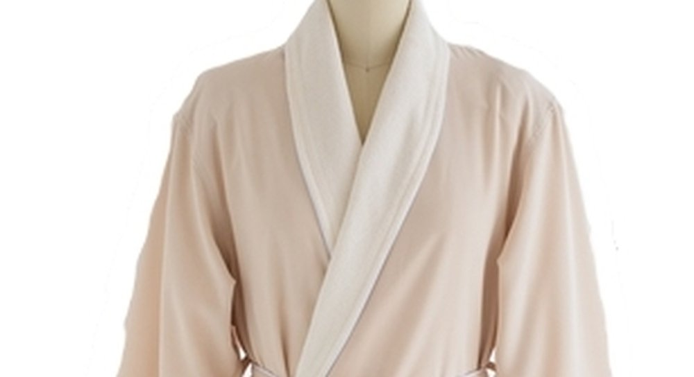 Microfiber Bathrobe - Finely Brushed Doeskin Outer Shell and Combed Cotton Blended Terry Lining - Men and Women - EGGSHELL - 5XL