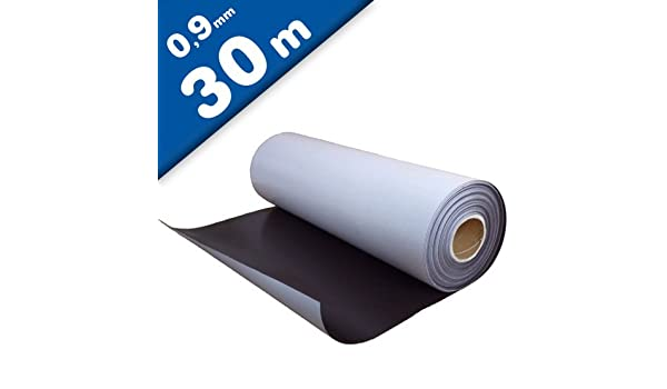 Lámina magnética autoadhesiva 0,9mm x 0,62m x 30m - puedes adherir otros materiales como por ejemplo fotografías, cartulina, papel, y todo lo que te brinde tu imaginación.: Amazon.es: Hogar