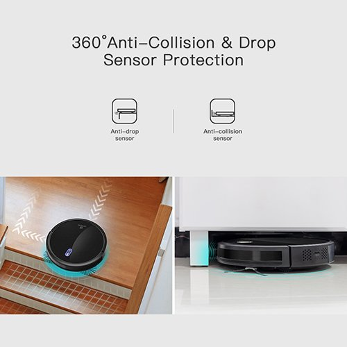 Robotic Cleaner Powerful with Cleaning Schedule 360° Anti-Collision & Drop Sensor Protection, Auto for All