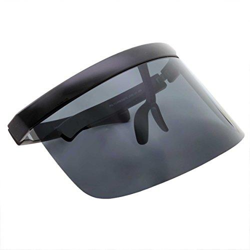 0b4efb95218b2 Futuristic Oversize Face Shield Visor Sunglasses Flat Top