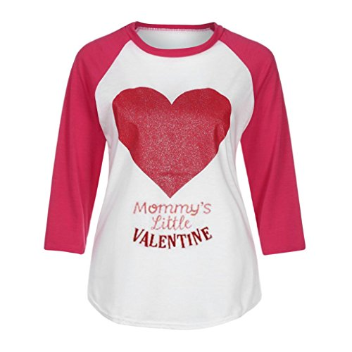 B Tunique Femme Rouge Shirts Imprim Femme Solike Manches 3 Rond Casual Sexy Chemisiers Paillettes 4 T Tops Tops Col Blouses Couture zwqRS
