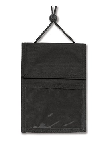 Black 3-Pocket Credential Wallet W/ Pen Compartment W/ Adjustable Neck Cord ()
