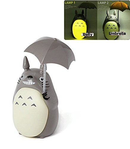 Totoro Anime LED Night Light [Green Belly], Kid's Character Lamp USB Charge, Desk Night Table Reading Lamp]()