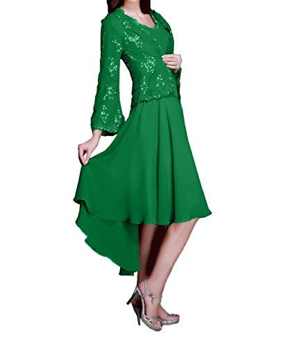Charmant Langarm Spitze Grün Brautmutterkleider Jaket Mit Kleider Damen Festlichkleider lo Damen Abendkleider Hi Partykleider v4vxrqfw