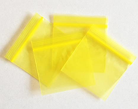 100 Red Ziplock Bags Baggies Baggy Smell Proof 50mm x 50mm
