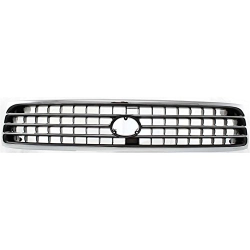 Toyota Cressida Grille - Grille Compatible with Toyota Cressida 91-92 Chrome Shell/Painted-Gray Insert
