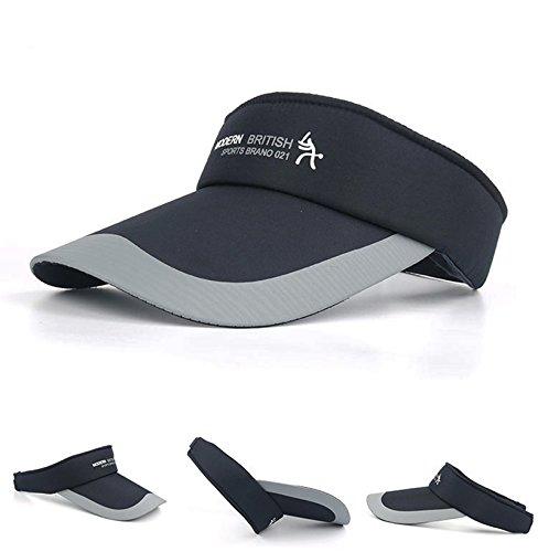 HYSENM アウトドア ゴルフキャップ ゴルフ帽子 スポーツキャップ サンバイザー ベルクロ 紫外線カット 速乾素材 吸汗抗菌 日よけ 遮光 メンズ 男女兼用 ゴルフ バトミントン 釣り ランニング サイズ調整可能