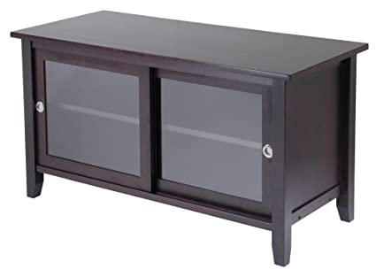 tv stand with doors Amazon.com: Winsome Wood TV Stand with Glass Sliding Doors  tv stand with doors