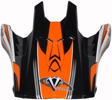 Vega Off-Road Helmet Visor with  NBX-Pro KTM Sidewinder Graphic Orange, Size Adult 92-392509