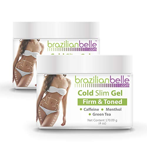 Cellulite Cold Slimming Gel with Caffeine and Green Tea Extract- Reduce Appearance of Cellulite, Stretch Marks, Firming and Toning, Improves Circulation - Quick Absorption- Cryo Gel (2 Jars)