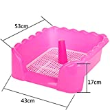 "Fashionable Pet Supplies & Indoor Pet Fence Potty Dog Toilet (21""*17""*6""),PINK"