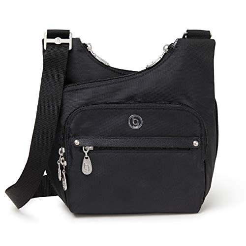 - BG by Baggallini Charlotte Crossbody Bag - Stylish, Lightweight, Adjustable-Strap Purse With Multiple Pockets and RFID Protection, Black