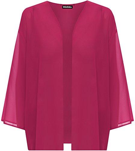 (ウェアオール)WearAllレディースオープン着物カーディガン七分袖