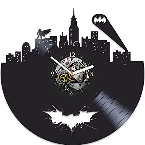 Amazon.com: Batman vinilo reloj de pared, batman regalo de ...