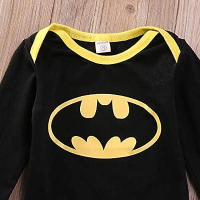 LovSmile Toddler Baby Boy Girl Fancy Bat Halloween Costume Dolman Sleeve Shirt Bat Wing Romper Outfit: Clothing