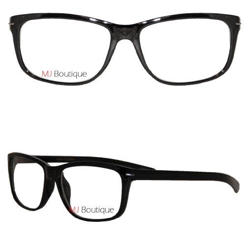 School Teacher Costume Accessories (Retro Horned Rim Retro Classic Nerd Glasses Clear Lens ((Black/), Clear))