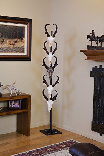 Trophy Tree European Trophy Mount by Skull Hooker – Hang up to 5 Deer Antlers and other Skulls for Display – Graphite Black by Skull Hooker (Image #2)