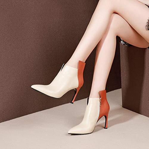 a23b89714e7fe Con Party E Evening Ufficio Donna Pelle Stivaletti Stiletto Da Beige Scarpe  Inverno Stivaletti Comfort Carriera ...