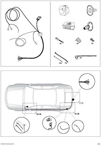 UmbraRimorchi Opel Astra J Sports Tourer Kombi 2010-2015 Vertikal Abnehmbare Anh/ängerkupplung mit 13p Spezif ESatz UT280COR61ZVMM//WS21500567DE1