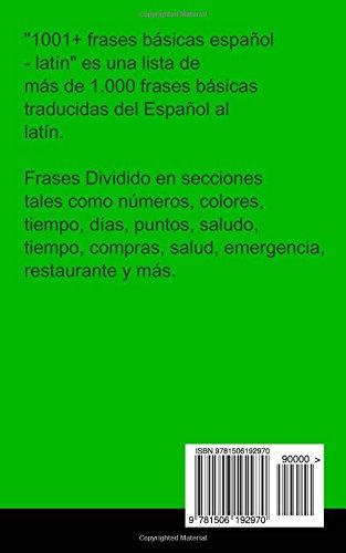 Buy 1001 Frases Básicas Español Latín 1001 Spanish