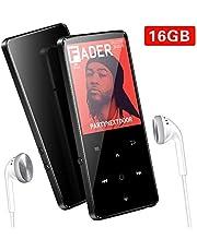 Lettore MP3, 16GB Bluetooth Portatile MP3 Lettore, Supereye MP3 Player,Lossless Sound, Pulsante di Tocco, Radio FM/Registratore Vocale/Foto/E-book, Supporto Fino a 64GB, Cuffie Musicali Inclusi