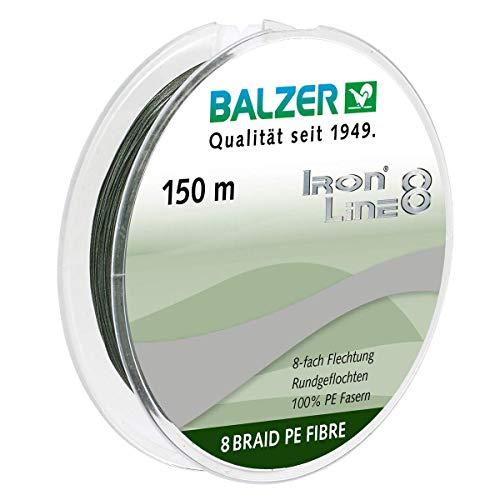 Balzer Iron Line 8-150m geflochtene Schnur zum Spinnfischen