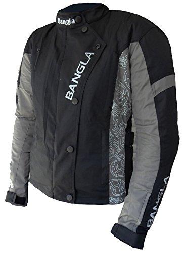 1512 Damen Motorrad Jacke Textil CORDURA 600 mit Protektoren Schwarz-Grau mit Print M