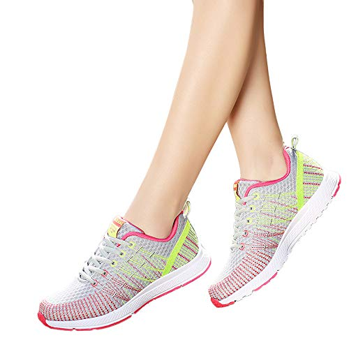 Cordones Sandalias Planas Sneakers Zapatillas Running Zapatos Para Cabeza Mujer,bbestseller 2 Casuales Deportivos Mujer Con Gris ZwwzqYd