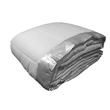Cozy Fleece Down Alternative Blanket with Satin Trim, Full/Queen, White