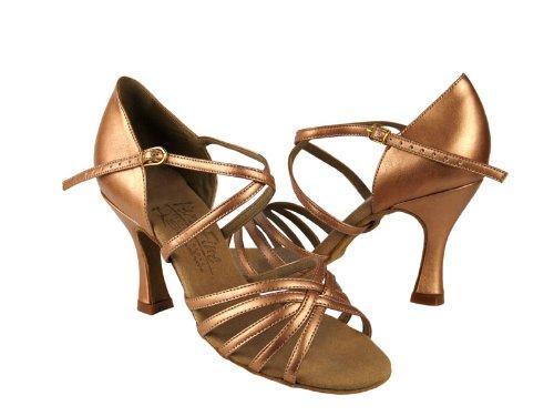 Damer Kvinnor Balsal Dansskor För Latin Salsa Tango Signatur S9216 Koppar Naken Läder 2,5 Häl