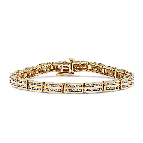 2 Carat Diamond Dome Channel Set Bracelet in 14k Yellow Gold ()