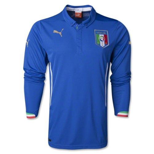 PUMA Men's Figc Italia Home L/S Shirt Replica Team Power Blue Polo Shirt MD ()