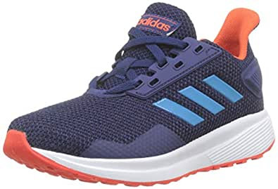 Adidas DURAMO 9 K, Unisex Kids' Sneakers, Blue (Dark Blue/Shock Cyan/Active Orange), 11.5 UK, (30 EU),F35107