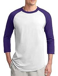 Unisex Men's Emoticon 3/4 Sleeve Raglan Baseball Tee Sizes XS to 6X