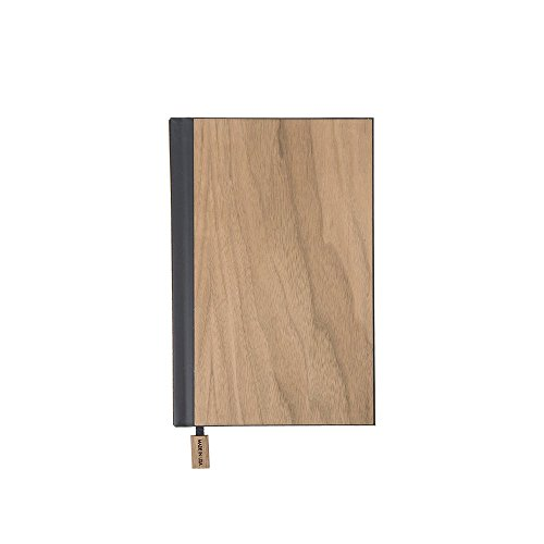 WOODCHUCK Wood Pocket Journal 6.5x4.5 Inches, Walnut, Blank Pages -100% Recycled (Walnut Notepad)
