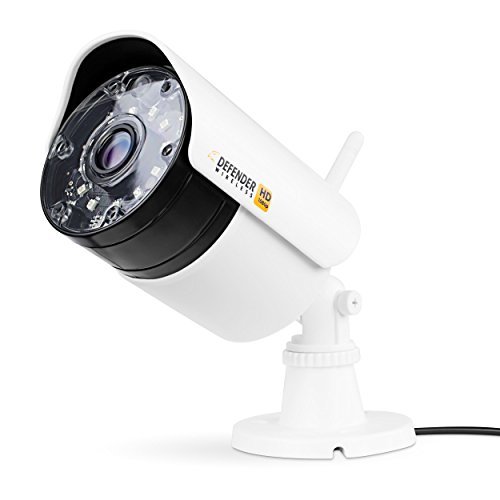 Defender Wireless HD 1080p Security Camera - White - WHDCB1