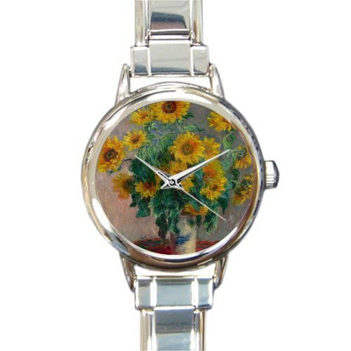 Personalized Watch Claude Monet Art Round Italian Charm stainless steel Watch - Christmas Guft by Claude Monet's Painting Watch (Image #1)