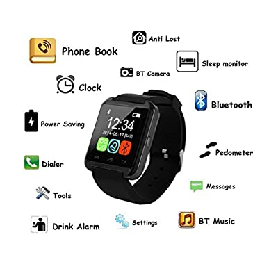 Pandaoo Bluetooth Smart Watch WristWatch U8 UWatch Fit for Smartphones IOS Apple iphone Android