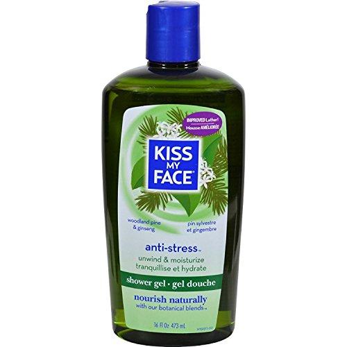 Description Kiss - Kiss My Face Anti-Stress Shower Gel, Woodland Pine & Ginseng 16 oz